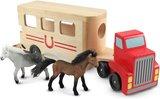 Melissa & Doug Houten paarden trailer
