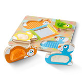 Melissa & Doug First Play Touch & Feel Houten kiekeboe dierenpuzzel