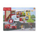 Melissa & Doug Geluidspuzzel brandweerkazerne