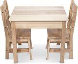 Melissa & Doug - Houten Kindertafel met twee Stoeltjes