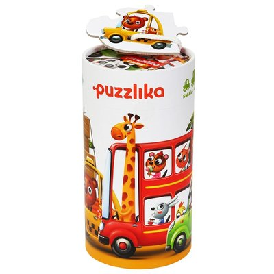 Puzzlika - voertuigen - 5 puzzels