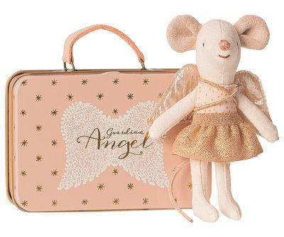 Maileg Engel muis in koffer