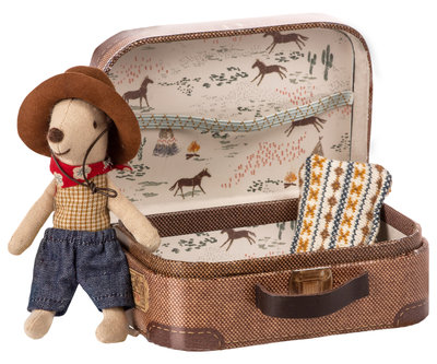 Maileg muis cowboy in koffer