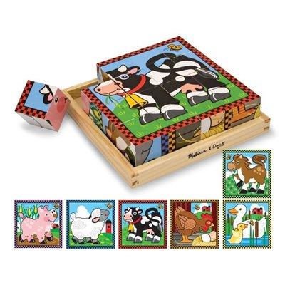 Melissa & Doug houten blok puzzel