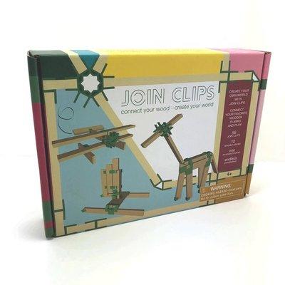 JOIN CLIPS 56-10 mini set! verbinding clips voor houten bouwplankjes