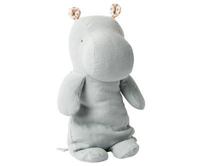 Maileg Hippo blauw grijs