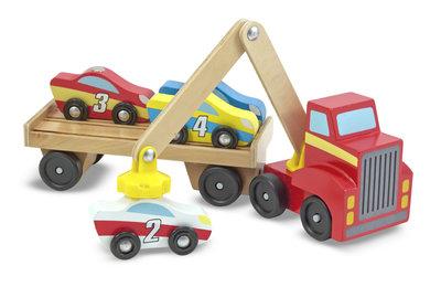 Melissa & Doug vrachtwagen met magnetische kraan