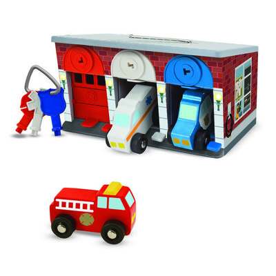 Melissa & Doug Garage Lock & Roll 7-delig