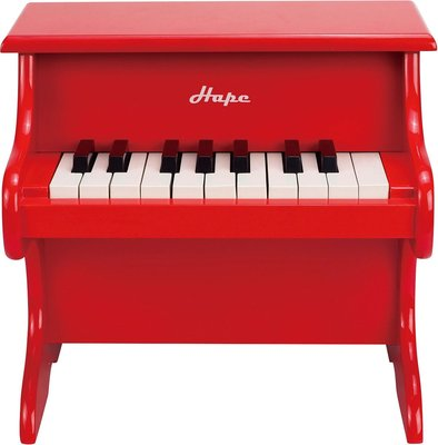 Hape piano van hout rood