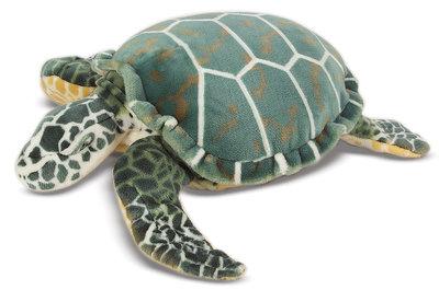 Melissa & Doug grote knuffel schildpad