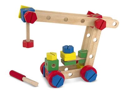 Melissa & Doug houten bouw-set