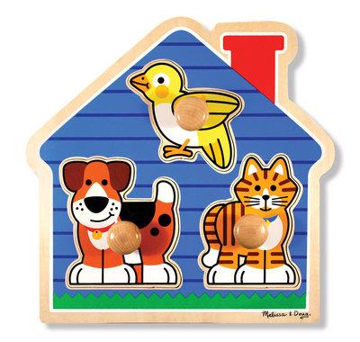 Melissa & Doug grote knop puzzel voor 1 +