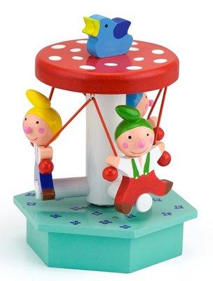 Muziekdoos kabouter carrousel