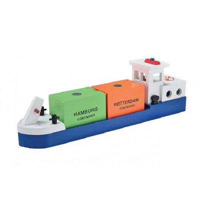 New Classic Toys Rijnaak met 2 Containers Haven Lijn