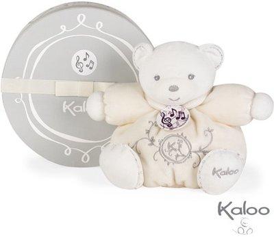 Kaloo Perle Knuffelbeer met muziek wit klein