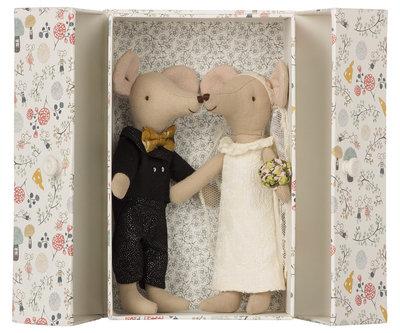 Maileg bruidspaar in een doosje