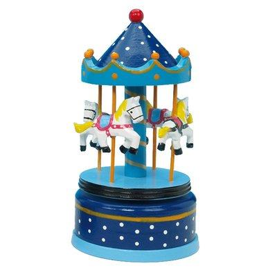Muziekdoos Carrousel blauw