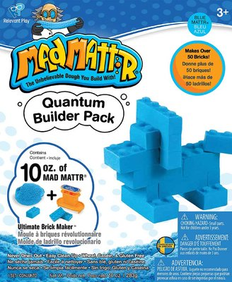 MadMattr Quantum Builders Pack Blauw + Brick Maker (283 gram)