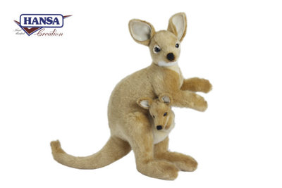 Hansa Kangaroe knuffel ( Walleby )