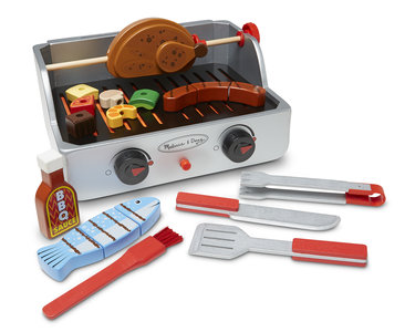 Melissa en Doug grill en barbecue set