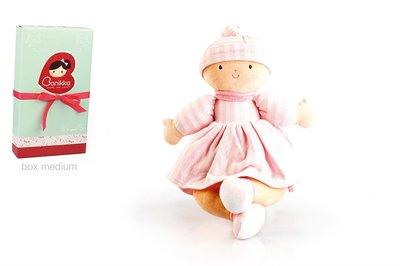 Bonikka stoffen pop, petit baby roze 32 cm