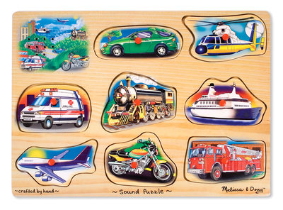 Melissa & Doug geluidspuzzel vervoer klassiek