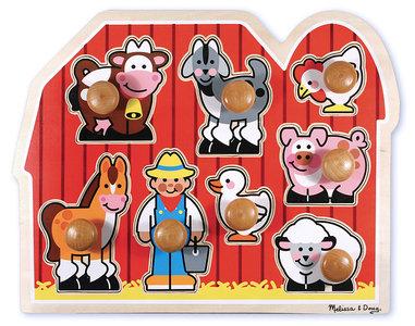 Melissa & Doug grote knoppuzzel boerderij