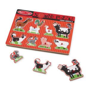 Melissa & Doug geluid puzzel boerderij