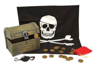 Melissa & Doug houten piratenkist met inhoud