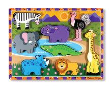 Melissa & Doug chunky puzzel safari